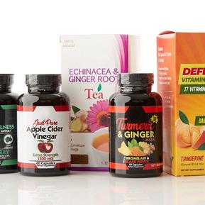 Immunity Essentials Supplements, Teas, Liquids & Powders