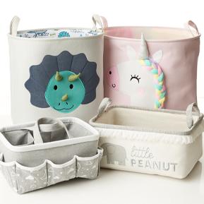 Baby Storage Hampers, Bins & Caddys