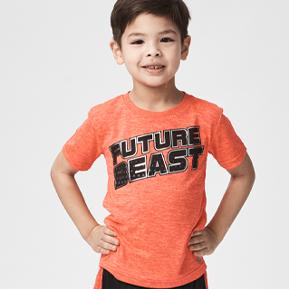 Boys Short Sleeve Active Logo Tees